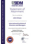 IIDM CPD - Statement of Attainment