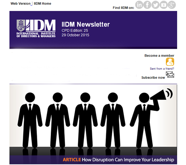 CPD Newsletter 29 October 2015